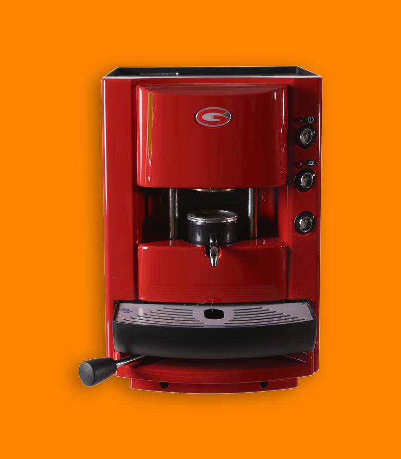 grimac macchina caffe rossa
