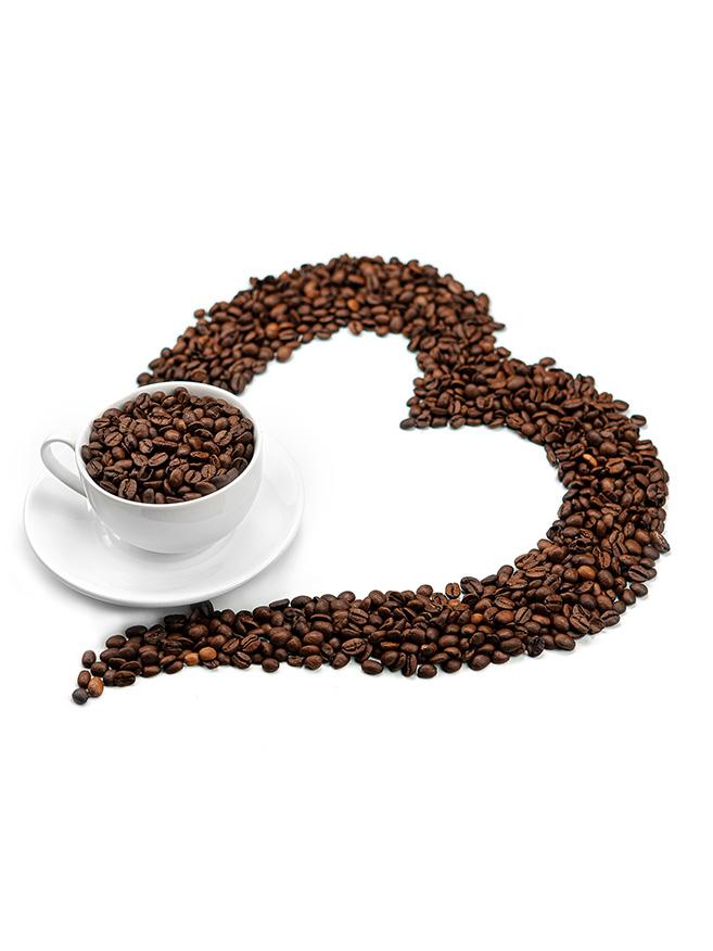 tazzina con chicchi caffe